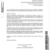 Carta Ministerio Fomento
