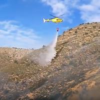 Incendio forestal entre Ballobar y Velilla de Cinca. Marzo 2016