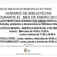 Horarios Bibliotecas Enero